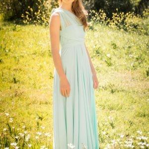 Mesh Straps Infinity Bridesmaids Dress