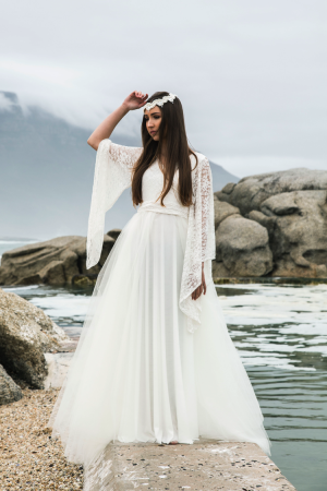 Bell Sleeve Wedding Dress SA