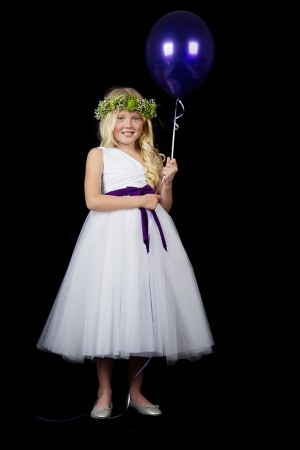 Infinity Flower Girl Dress with Tulle Skirt