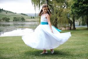 Flower Girl Dress, Mesh Skirt
