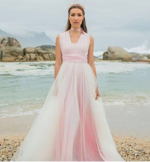 Ombre Tulle Skirt Infinity Dress