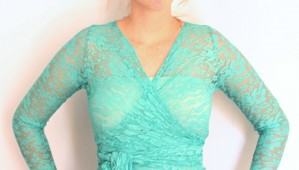 Vintage Wrap Lace Top only - no dress