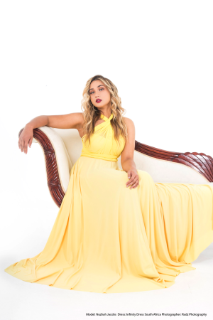 Yellow Infinity Dress