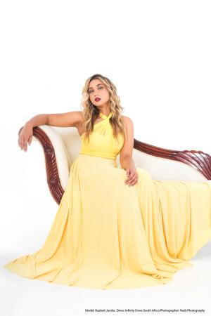 Yellow Infinity Dress