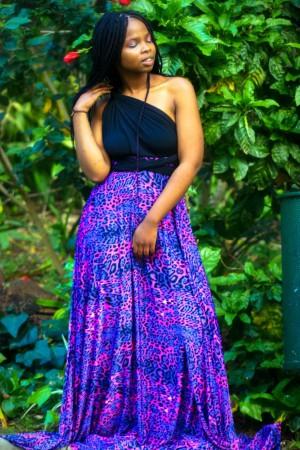 Leopard Print Infinity Dress