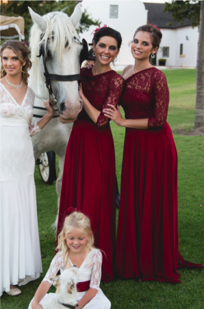 Vintage Wrap Bridesmaids Dress. Buy 2 get 1 Free